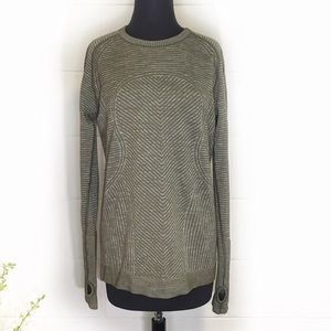 Lululemon Olive Green Swiftly Long Sleeve Top